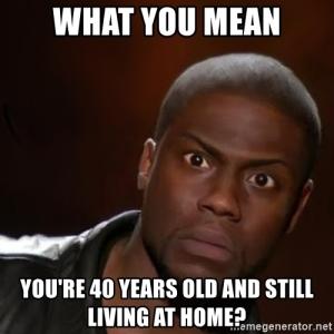 Still living at home